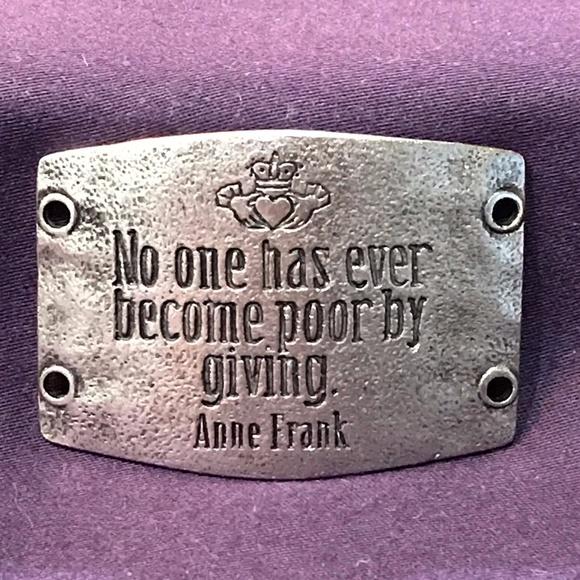 Lenny /& Eva Large Silver Sentiment Anne Frank Retired How Wonderful It Is